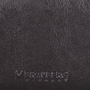 "Визитница однорядная BRAUBERG ""Imperial"", на 20 визиток, под гладкую кожу, черная, 232291"