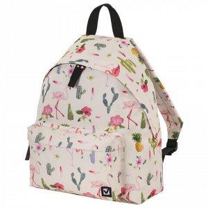 Рюкзак BRAUBERG, универсальный, сити-формат, Tropics, 20 литров, 41х32х14 см, 229882