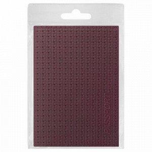 """Обложка для паспорта натуральная кожа плетенка, """"PASSPORT"""", бордовая, BRAUBERG, 237195"""