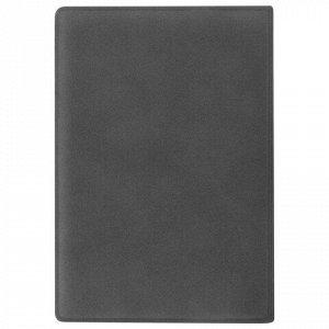 """Обложка для паспорта STAFF, мягкий полиуретан, """"ГЕРБ"""", светло-серая, 237610"""