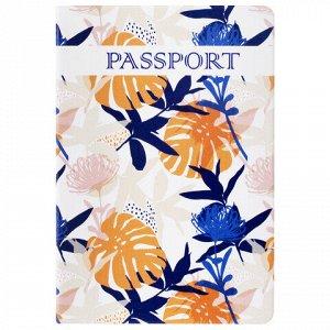"""Обложка для паспорта """"Тропики"""", ПВХ, фотопечать ассорти, STAFF, 237592"""