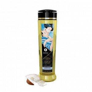 Возбуждающее массажное масло Shunga ADORABLE с ароматом кокоса (240 мл)