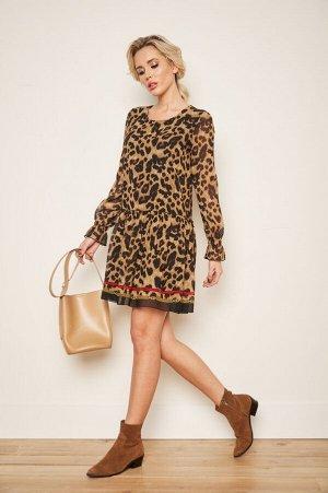 Платье Эльвира №5 .Цвет:леопард