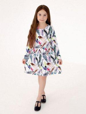 Платье Эля перья