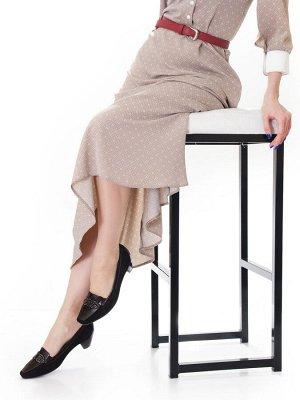 Туфли Страна производитель: Россия Размер женской обуви x: 36 Полнота обуви: Тип «F» или «Fx» Сезон: Весна/осень Тип носка: Закрытый Форма мыска/носка: Трапециевидный Каблук/Подошва: Каблук Высота каб