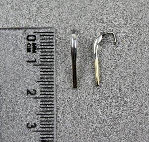 Блесна Махалочная Z (16мм, двухцветная, серебро-зелёнка)