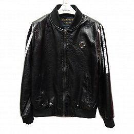 Куртка кожаная дет. HABO scs-1921-1-1 р-р 8/9-12/13 5 шт, цвет черный