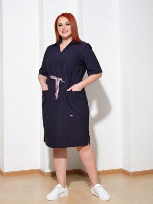 Платье 0085-4 чернильный