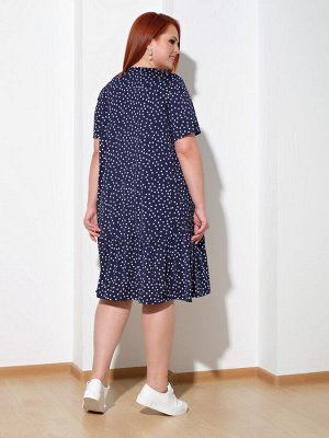 Платье 0028-14 темно-синий