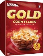 GOLD Corn Flakes. Хрустящие кукурузные хлопья, 330 г