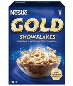 Готовый завтрак Nestle Gold Snow Flakes, кукурузные хлопья хрустящие,300 г
