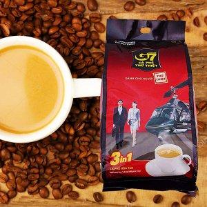 Растворимый кофе  фирмы «TrungNguyen» «G7» 3в1 Состав: кофе, сливки, сахар.  В 1 упаковке 100 пакетиков по 16 грамм.