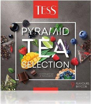 TESS Подарочный набор: Коллекция 9 вкусов листового чая в пирамидках, 45 шт