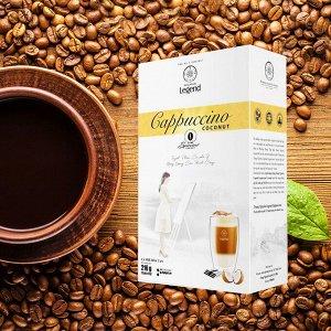 Растворимый кофе  фирмы «TrungNguyen» «G7»  капучино 3в1: - С КОКОСОВЫМИ СЛИВКАМИ. Состав: кофе, сахар, сливки. В 1 упаковке 12 пакетиков по 18 грамм.