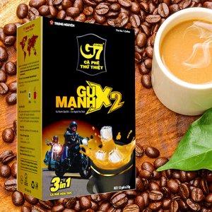 Растворимый кофе  фирмы «G7». «GU MANH X2» 3в1  Состав: кофе, сахар, сливки. В 1 упаковке 12 пакетиков по 25гр