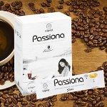 Растворимый кофе 4в1 ПАССИОНА (кофе, сливки, заменитель сахара, коллаген) 1 упаковка / 14 стика по 16 гр