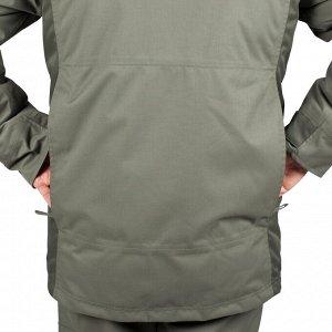 Теплая водонепроницаемая куртка муж. для охоты 500 серая SOLOGNAC