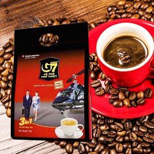 Растворимый кофе  фирмы «TrungNguyen» «G7» 3в1 Состав: кофе, сливки, сахар.  В 1 упаковке 50 пакетиков по 16 грамм.