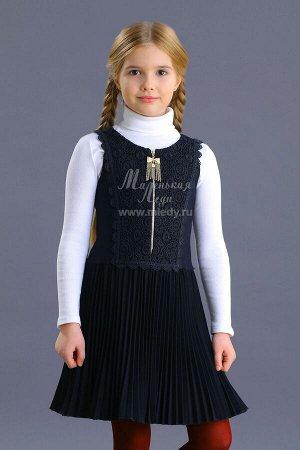Сарафан,костюм.вискоза, на молнии,лиф кружевной орнамент,юбка плиссе  мЛеди