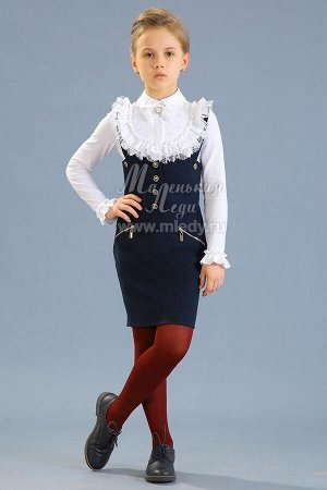 Сарафан,костюм.вискоза,на бретелях,прямой крой,лиф формы зиг-заг   м.Леди