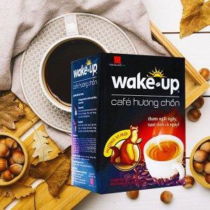 Растворимый кофе  фирмы «Vinacafe». «Wake-up» со вкусом ЛЮВАКА 3в1  Состав: кофе, сахар, сливки. В 1 упаковке 18 пакетиков по 17 грамм.