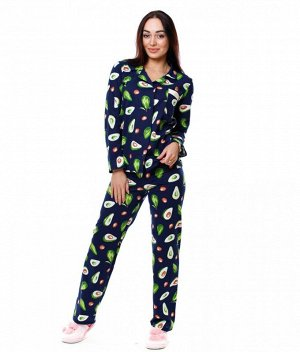Пижама Б31 (авокадо на темно-синем)
