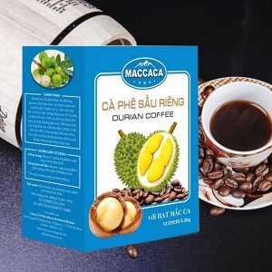 Растворимый кофе  фирмы 3в1: - СО ВКУСОМ ОРЕХА МАКАДАМИИ И ДУРИАНА. Состав: кофе, сахар, сливки. В 1 упаковке 12 ПАК * 20 грамм.