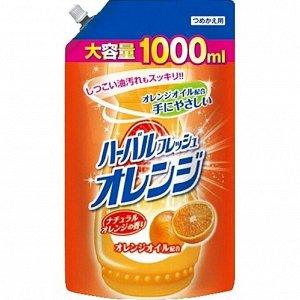 """040726 """"Mitsuei"""" Средство для мытья посуды, овощей и фруктов с ароматом апельсина 1000 мл. (мягкая упаковка)"""