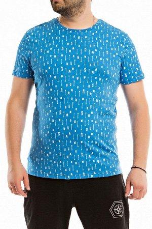 Футболка Мужская футболка выполнена из кулирки. Модель с круглым вырезом горловины и короткими рукавами. Размерный ряд: 44-70. Состав Хлопок 100% Артикул 12026а Базовая единица шт