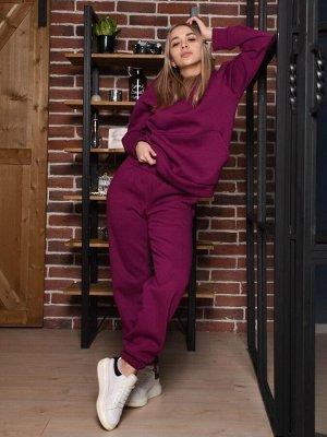 Теплый спортивный костюм Рианна, марсала