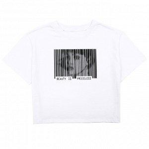 Футболка Стильная футболка для девочек. Модель оверсайз. Материал: 100% хлопок, кулирка пенье Размеры: 34, 36, 38, 40, 42 Цвет - Белый