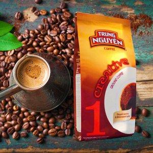 Молотый кофе  фирмы «TrungNguyen» «CREATIVE №1» со вкусом шоколада  Состав: Робуста Вес: 250 грамм.