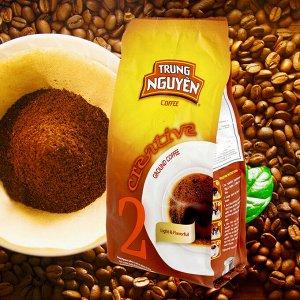 Молотый кофе  фирмы «TrungNguyen» «CREATIVE №2» со вкусом шоколада  Состав: Робуста+Арабика Вес: 250 грамм.