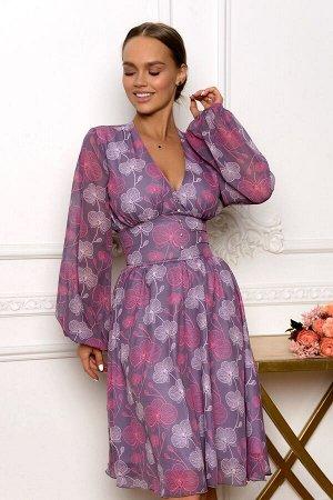 Платье Размер: 42 / 44 / 46 / 48 Орхидея - символ невинности, совершенства и элегантности. Модель этого платья сочетает в себе все последние модные тенденции. Широкие, полупрозрачные рукава-баллоны, н