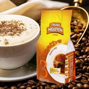 Молотый кофе  фирмы «TrungNguyen» «CREATIVE №3» со вкусом шоколада  Состав: Арабика Вес: 250 грамм.