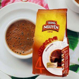 Молотый кофе  фирмы «TrungNguyen» «CREATIVE №4» со вкусом шоколада  Состав: Арабика+Робуста Вес: 250 грамм.