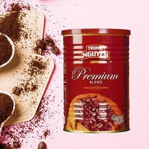 Молотый кофе  фирмы «TrungNguyen»  «PremiumBlend» со вкусом шоколада   Состав: Арабика, Робуста, Катимор, Экцельза Вес: 425 грамм.