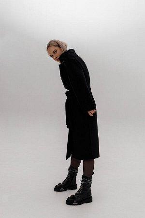"Пальто под пояс ""black"""