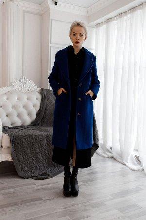 """Пальто с английским воротником цвет """"ультрамарин"""""""
