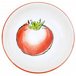 """""""Помидор"""" Блюдце-розетка для варенья фарфоровое д9,4см h2,8см, подглазурная деколь (Китай)"""