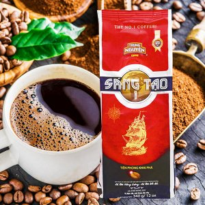 Молотый кофе  фирмы «TrungNguyen» «SANGTAO  №1»  Состав: кули, робуста. Вес: 340 грамм.
