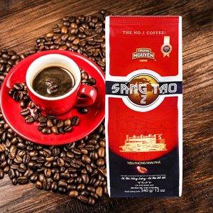 Молотый кофе  фирмы «TrungNguyen»  «SANG TAO  №2»  Состав: арабика, робуста. Вес: 340 грамм