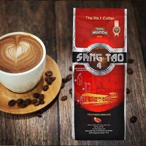 Молотый кофе фирмы «TrungNguyen» «SANG TAO  №4»  Состав: арабика, робуста. Вес: 340 грамм.