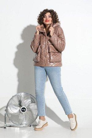 Куртка Куртка Avanti Erika 1117-3 грязно-пудровый  Состав: Куртка: ПЭ-100%; Подкладка: Вискоза-97%; Эластан-3%; Сезон: Весна Рост: 164  Стёганная куртка оверсайз, на утеплителе, сезонность - еврозима