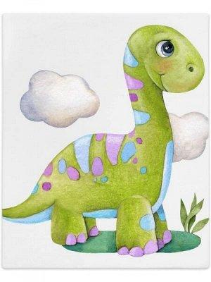 """Трикотажный плед """"Динозаврик"""""""