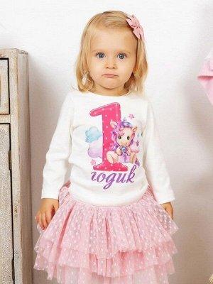 """Лонгслив """"Мне 1 годик"""" для девочки малыша"""