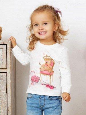 """Лонгслив """"Мишка король"""" для малышей"""