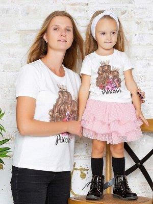 "Футболка с принтом ""Princesses"" блондинки (Family look)"