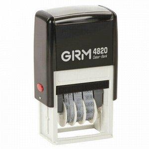 Датер-мини месяц цифрами, оттиск 22х4 мм синий, GRM 4820 BANK, 124361133