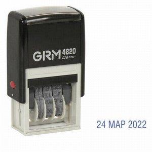 Датер-мини месяц буквами, оттиск 22х4 мм синий, GRM 4820, 124361131